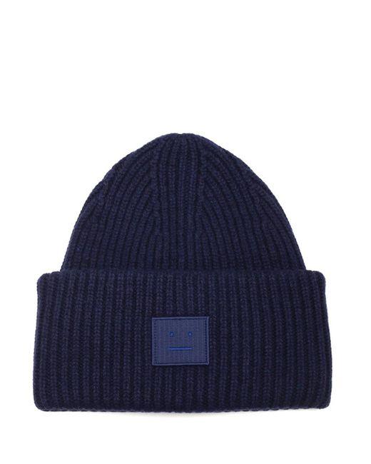 Cappello a coste blu di Acne in Blue da Uomo