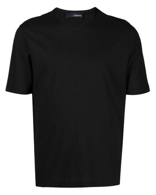 Lardini Black Cotton T-shirt