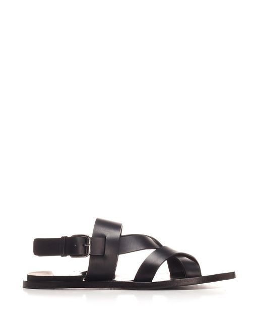 Officine Creative Black Sandal
