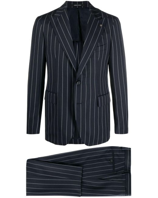 Tagliatore Blue Pinstripe Two-piece Suit for men