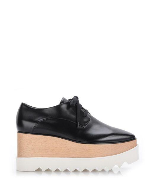 Stella McCartney | Black 'britt' Eco Leather Platform Shoes | Lyst