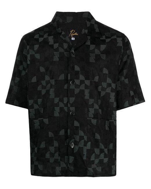 Needles Black Short Sleeve Shirt for men