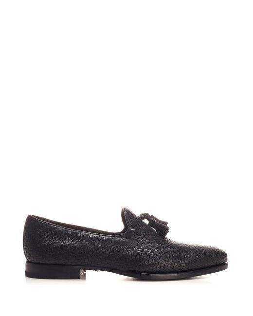 Tagliatore Interwined Black Loafer