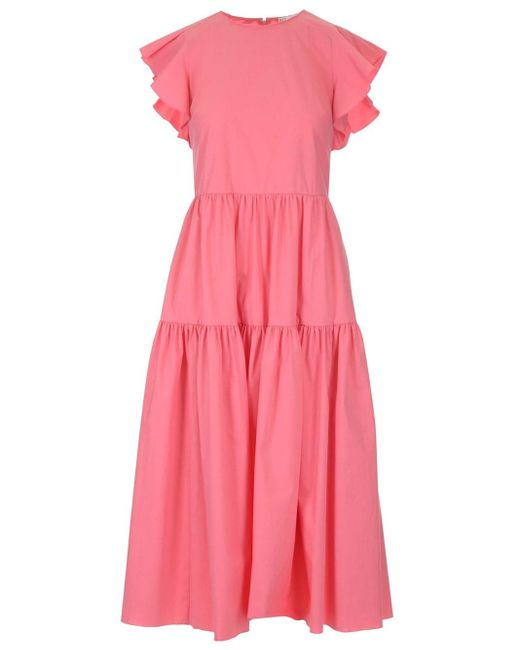 RED Valentino Pink Stretch Poplin Dress