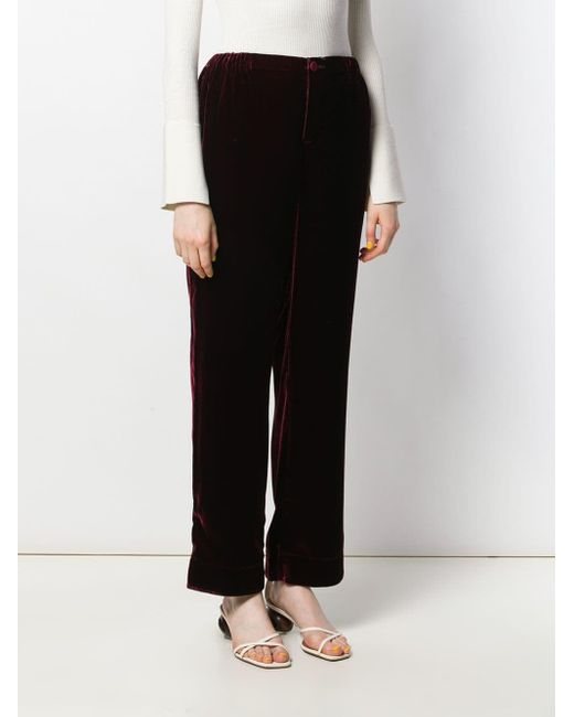 F.R.S For Restless Sleepers Black Etere Pantaloni Pigiama In Velluto