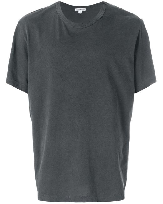 T-shirt girocollo in jersey di James Perse in Gray da Uomo