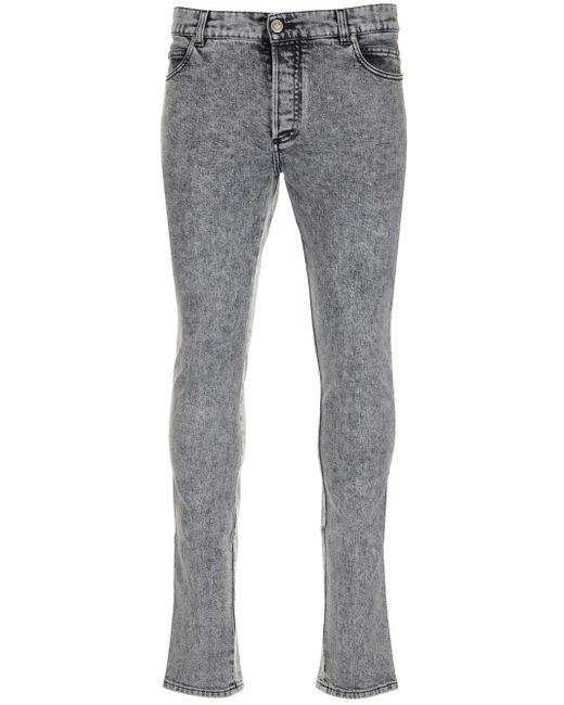 Balmain Gray Grey Denim Jeans for men