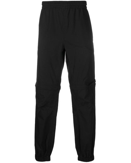 MSGM Black Nylon Trousers for men