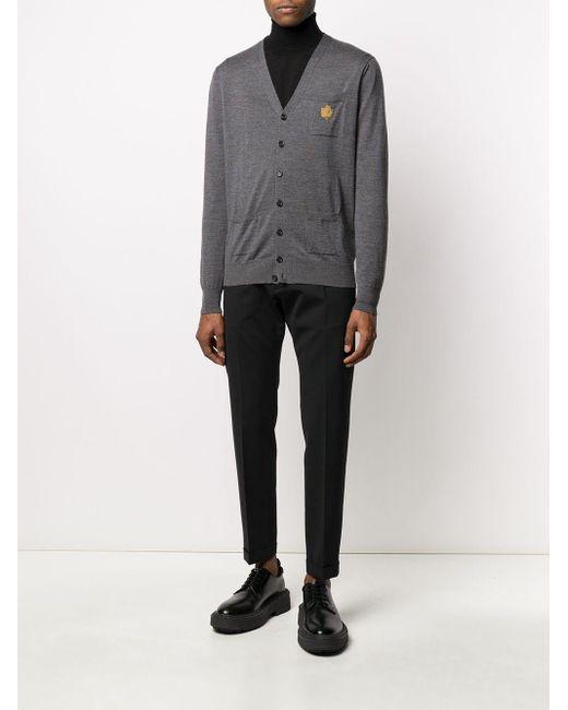 Cardigan con taschino di DSquared² in Gray da Uomo