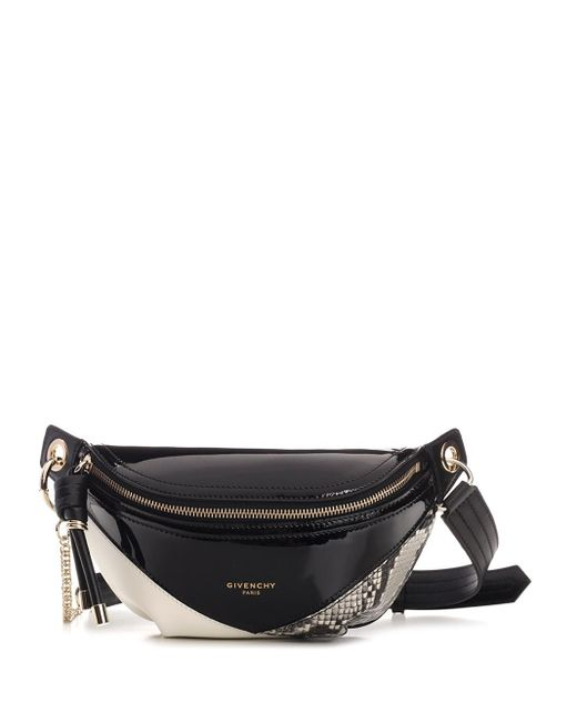Givenchy Black Panneled Leather Bum Bag