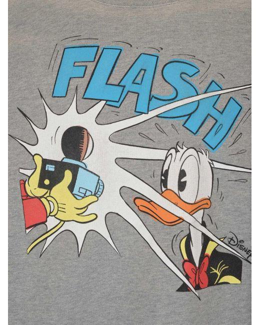 Felpa Donald Duck di Gucci in Gray da Uomo