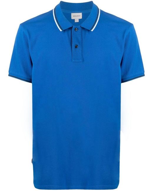 """Woolrich Blue """"monterey"""" Polo for men"""