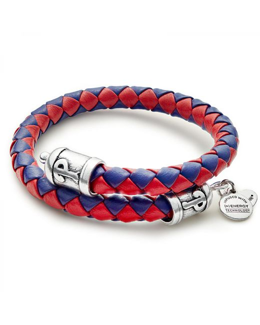 ALEX AND ANI Red Philadelphia Phillies Braided Leather Wrap