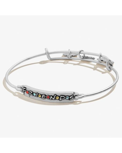 ALEX AND ANI Metallic Friends Logo Bar Bangle Bracelet
