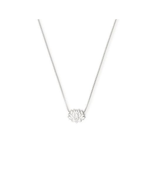 ALEX AND ANI Metallic Lotus Peace Petals Adjustable Necklace