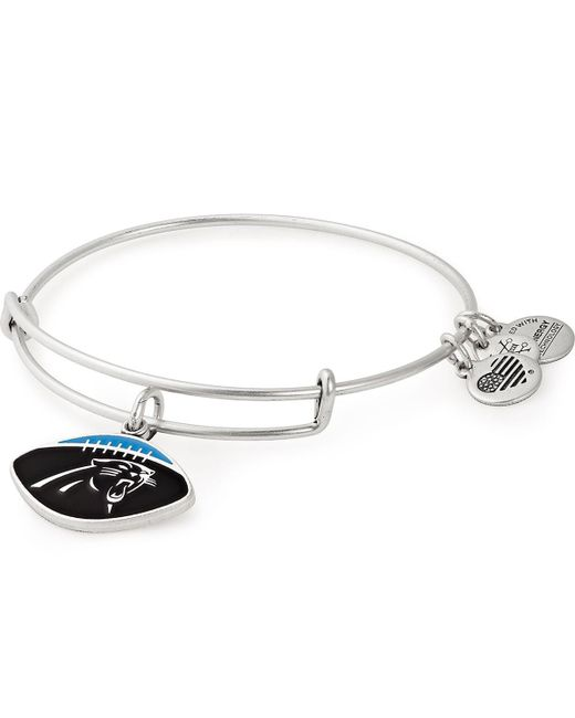 ad33e3d94cf ... ALEX AND ANI - Metallic Buffalo Bills Football Color Infusion Charm  Bangle - Lyst ...