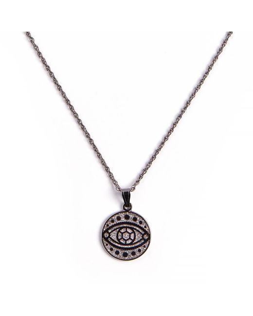 ALEX AND ANI Metallic Evil Eye Color Infusion Adjustable Necklace