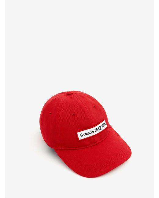 メンズ Alexander McQueen Embroidered Selvedge Baseball Cap