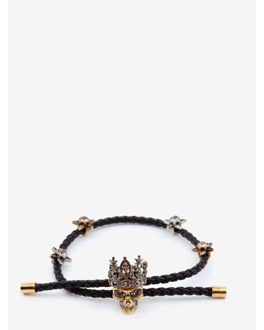 Alexander McQueen | Black Queen Friendship Bracelet for Men | Lyst