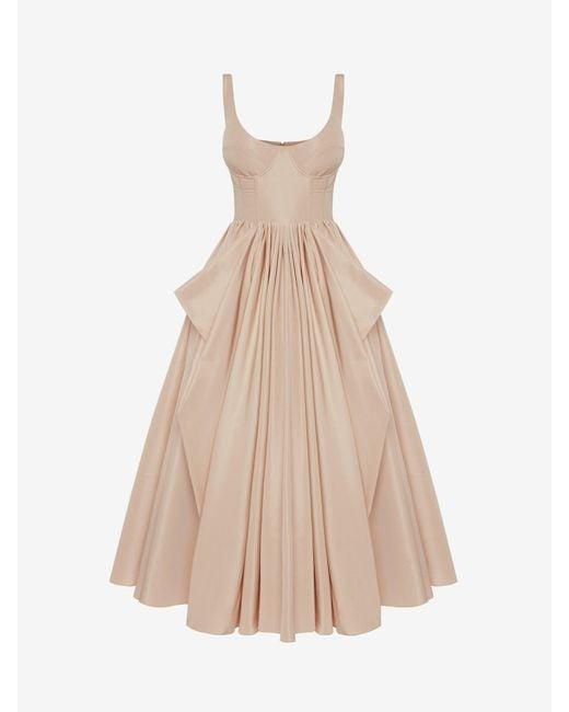 Alexander McQueen コルセット ボウ ドレープドレス Pink