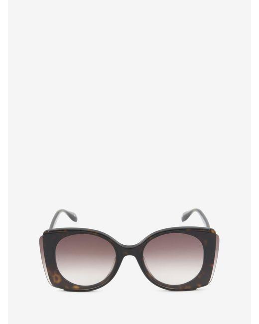 Alexander McQueen Outstanding Lenses Sunglasses Brown