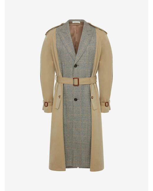 メンズ Alexander McQueen Spliced Tailored Trench Coat Natural