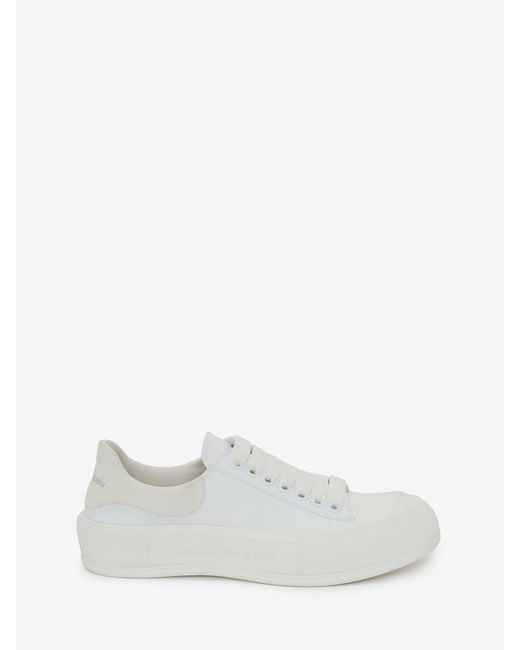 Alexander McQueen Deck Lace Up Plimsoll White