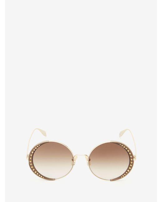 Alexander McQueen Studded Lens Round Sunglasses Multicolor