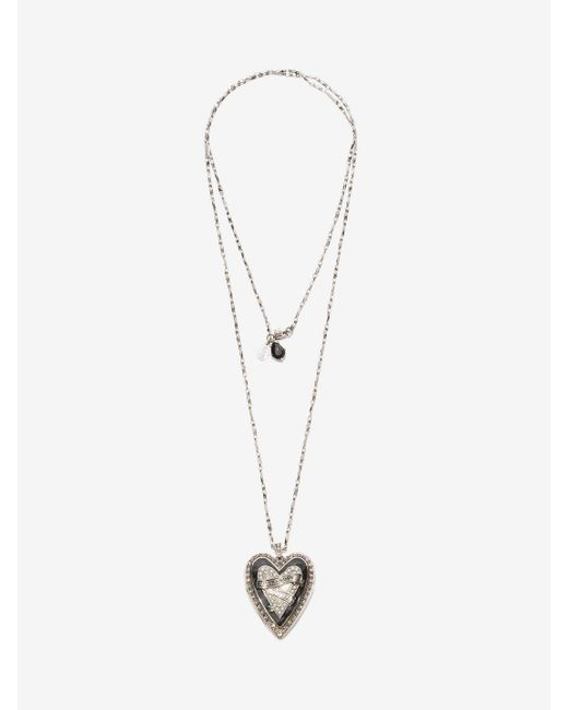 Alexander McQueen | Metallic Heart Locket Necklace | Lyst
