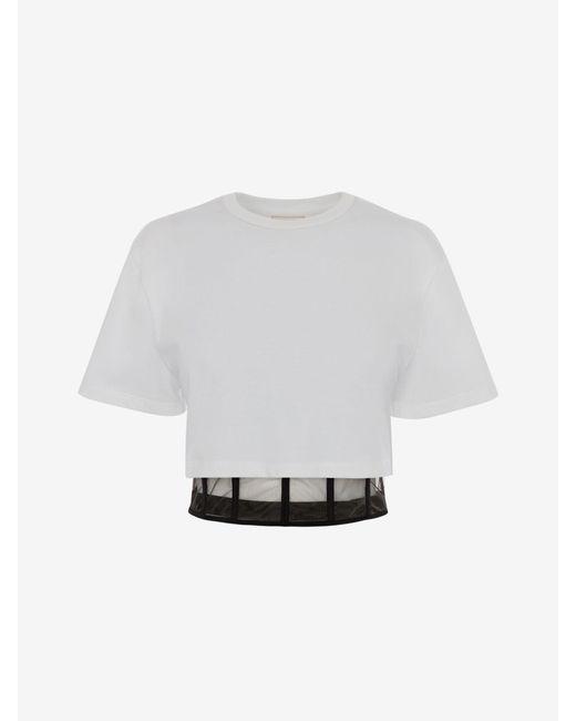 Alexander McQueen コルセット Tシャツ Black