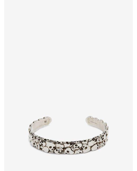 メンズ Alexander McQueen Multi Skull Bracelet Metallic