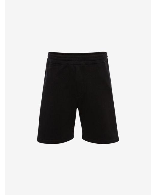 メンズ Alexander McQueen セルビッジ ロゴテープ ディテール ショートパンツ Black