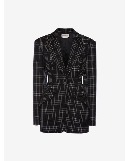 Alexander McQueen Welsh Check Jacket Black