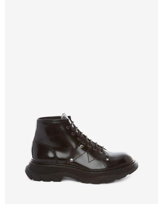 Alexander McQueen Tread Lace Up Boot Black