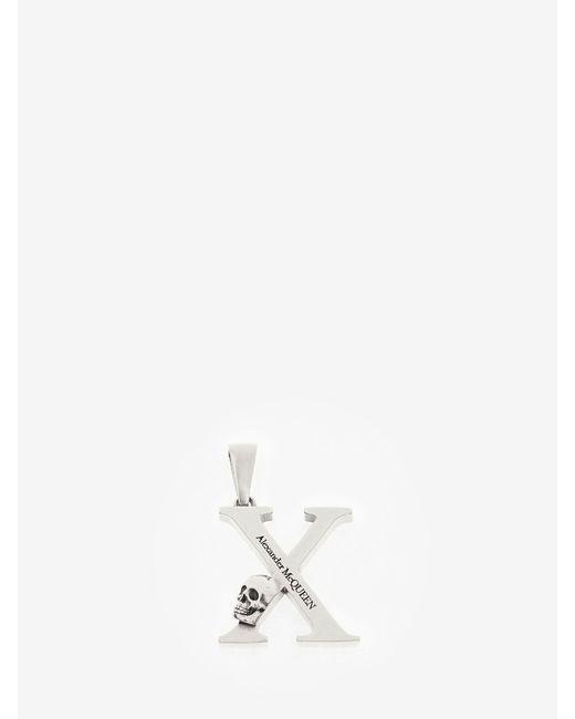 Alexander McQueen Metallic Silver Alphabet Pendant