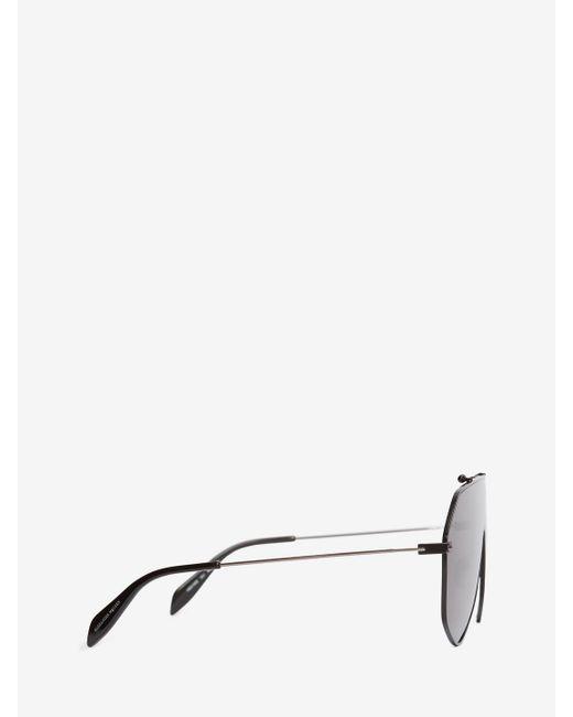 d7cdbf9d61b ... Alexander McQueen - Black Piercing Frame for Men - Lyst ...