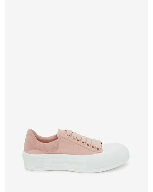 Alexander McQueen Deck Lace Up Plimsoll Pink