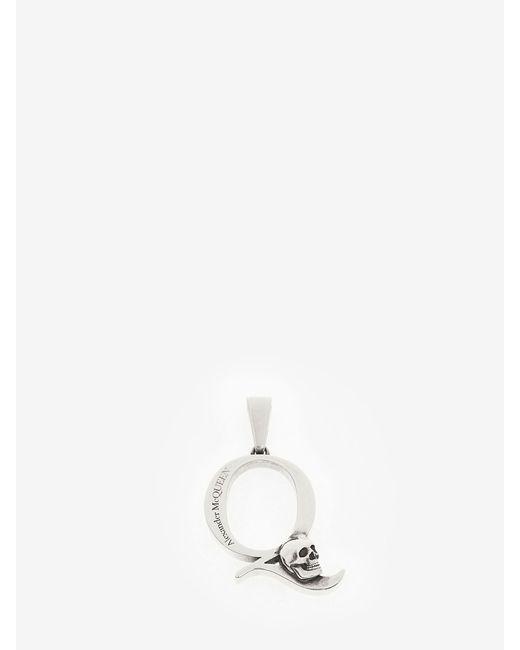 Alexander McQueen Alphabet Pendant Metallic