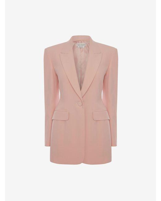 Alexander McQueen リーフクレープ ジャケット Pink