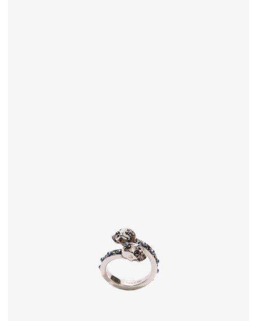 Alexander McQueen - Metallic Wrap-around Skull Ring - Lyst