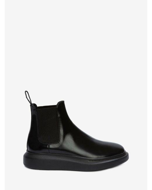 メンズ Alexander McQueen Hybrid Chelsea Boot Black