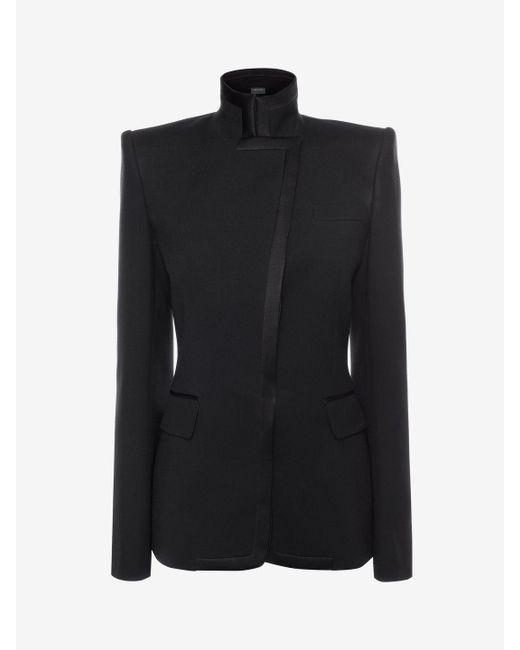 Alexander McQueen | Black Asymmetric Jacket | Lyst