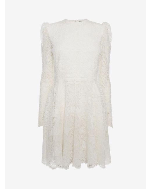 Alexander McQueen | White Mini Dress | Lyst