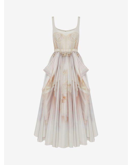 Alexander McQueen チュール トワル ボウ ドレープドレス Pink