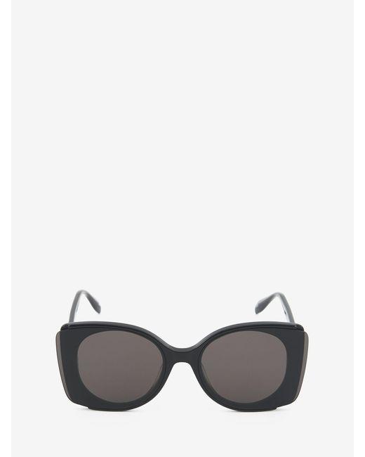 Alexander McQueen Outstanding Lenses Sunglasses Black