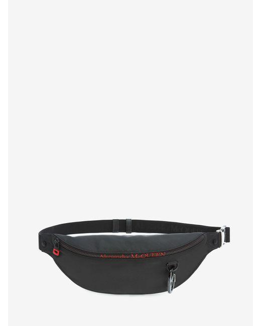 メンズ Alexander McQueen オーバーサイズ ハーネス ベルトバッグ Black