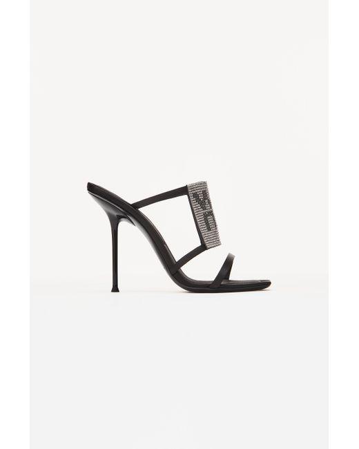 Alexander Wang Black Julie Crystal Sandal