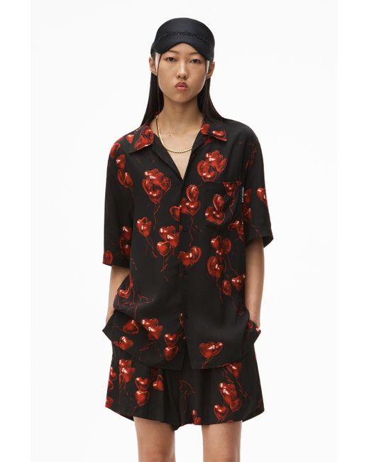 Alexander Wang Black Printed Hawaiian Shirt