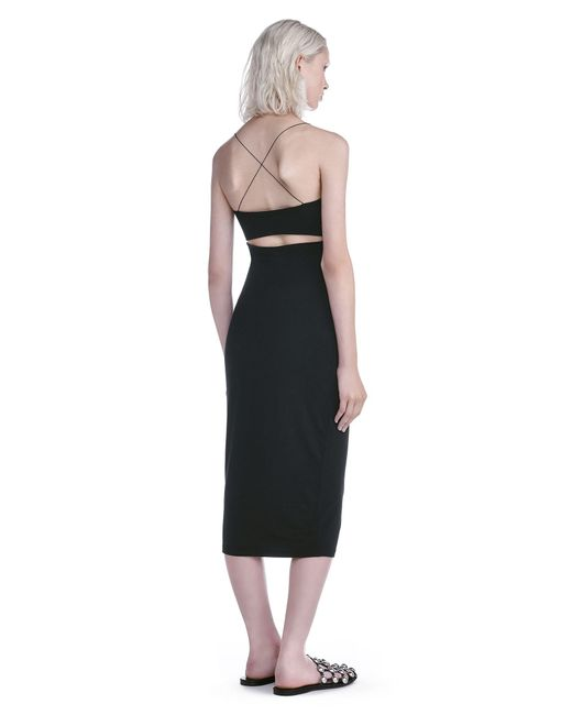 T By Alexander Wang - Black Cut Out Modal Cami Dress - Lyst