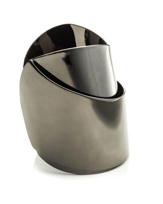 Alexis Bittar - Metallic Gunmetal Ribbon Cuff - Lyst